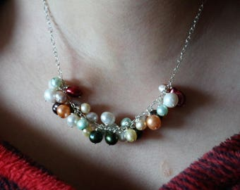 Pearl sterling silver necklace.