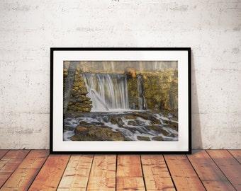 Waterfall, Instant Download, Print, Wall Art