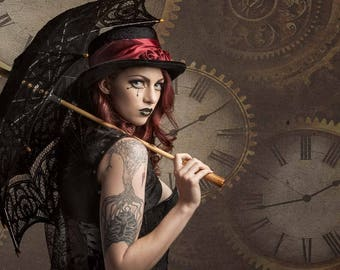 Steampunk Arielita High Quality Print Tattoos