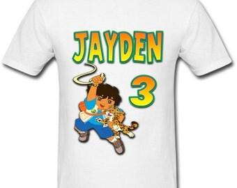 Personalized Go Diego Go Birthday shirt for Family