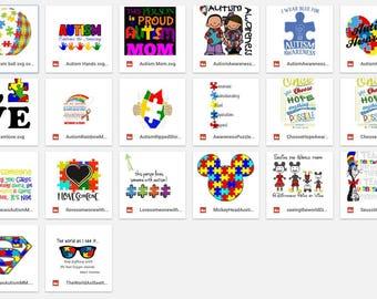 SVG 20 Autism File set