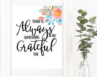 Gratitude Inspirational Print | Instant Download | Wall Print | Christian Wall Print | Digital Print | Wall Decor | Poster