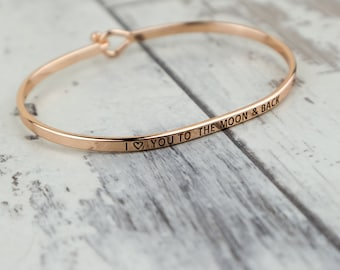 I Love You Moon Thin Bracelet