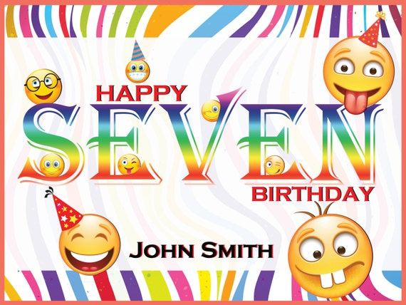 Rainbow Emoji Birthday Poster