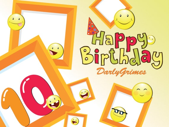 Happy Birthday Emoji Poster