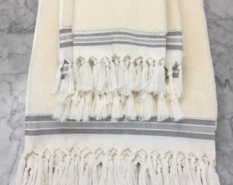 Hamam Ivory Turkish Bath Towels