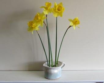 Flower brick vase, rustic jug style