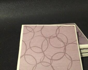 Gray Interlock Circle Coasters - Set of 4