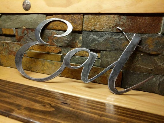 Eat Sign Kitchen Signs Farmhouse Wall Decor Metal Words Kitchen Wall Decor Kitchen Decor Farmhouse Signs Gifts Under 20 Eat