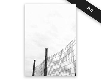 Fence - art print/photo print A4