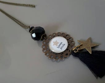 """Necklace sautoir cabochon """"Lucky star"""""""