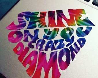 Pink Floyd Shine On You Crazy Diamond Vinyl Sticker