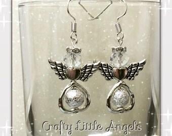 Wedding earrings, religious earrings, angel earrings, crystal earrings, spiritual earrings, gift for her