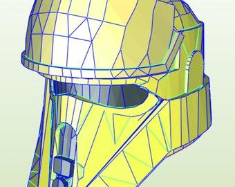 Rogue one Shore trooper helmet pepakura template