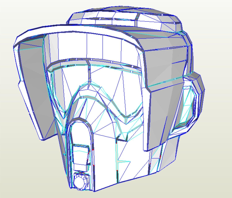 Mandalorian helmet pepakura files