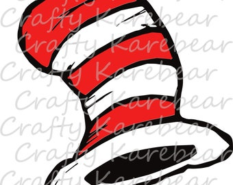 Cat In The Hat (Hat Only) SVG and DXF Digital File