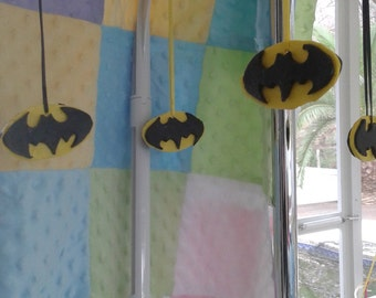 Baby mobile, batman crib bedding mobile,Batman mobile, hanging mobile, super hero ,polymer clay mobile