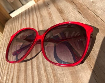 80s Vintage Rive Gauche Red Sun Glasses