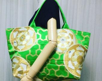 Obi Totebag,  Shopper Bag ,  Kimono Tote bag,  Big size bag,   Boho Kimono, Upcycled Kimono