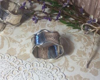 Napkin Ring Sterling Silver Peruvian Vintage