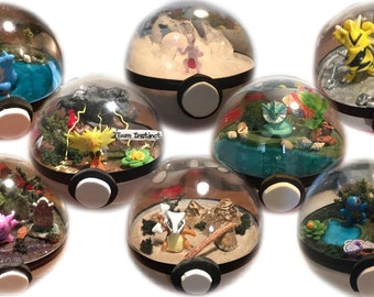 Choose a Pokemon! Custom character choice Pokeball Terrarium