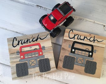 Miniature Vehicles - VW Bus -Monster Truck - Old Style Truck - Mini Cooper Handpainted