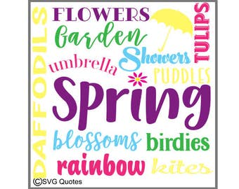 SVG Spring Subway Words Cutting file DXF EPS For Cricut Explore, Silhouette & More. Instant Download. Personal and Commercial Use. Vinyl