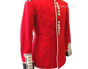 Welsh Guards Foot Guards Trooper Tunic - Red Ceremonial Uniform - Genuine Issue - British Army - E240