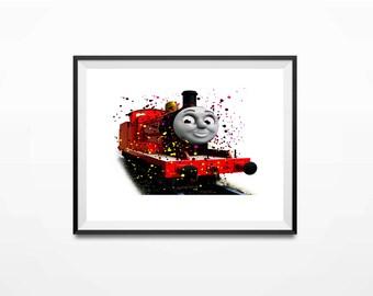 Disney Print, Thomas the Train, James Art, Thomas Art Print, Train Print, Thomas Print, Thomas Poster, Thomas and Friends, Thomas Gifts