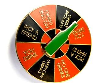 Drinking Game Spinner Enamel Pin