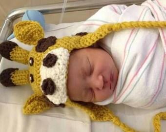 Giraffe Baby Beanie