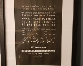 Lyrics Poster - ebay.co.uk