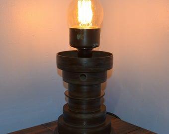 Vintage Lathe Gear Light – Industrial Light / Steampunk Lamp