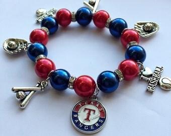 Texas Rangers Charm Bracelet