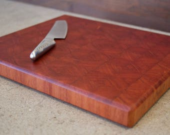 End grain cutting board, Sydney Blue Gum