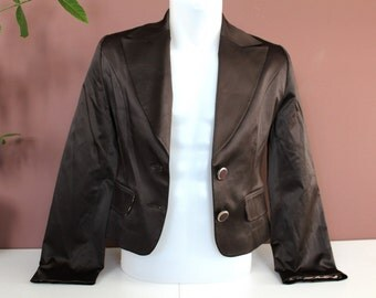 SALE!!! GINO ANGELLI Blazer Jacket, Brown Women's Blazer, Vintage Italian Blazer Jacket, Made in Italy Clothing, Gift For Her