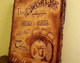 Tolkien Inspired Key Holder, Lord of The Rings Bilbo Hobbit Quote, Home Decor