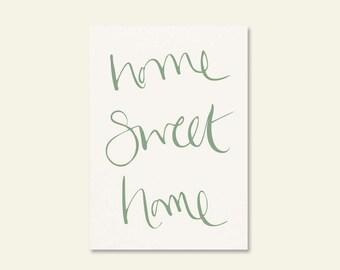 Home Sweet Home A4 Art Print