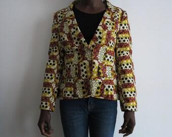 Wax tailor collar jacket size L