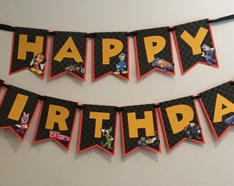 Mickey & The Roadster Racers Birthday Banner