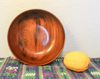 Gorgeous Oregon Myrtlewood Bowl ~ 8 inch Diameter Serving Bowl ~ Myrtle Wood Salad Bowl ~ Vintage Wooden Bowl ~ Myrtlewood Display Bowl