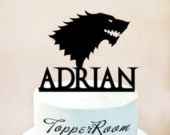 Cake Topper Game of Thrones,Game of Thrones birthday,Daenerys and dragons,Game of Thrones party (1064)