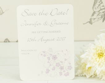 Personalised Jessica Wedding Save the Date Card