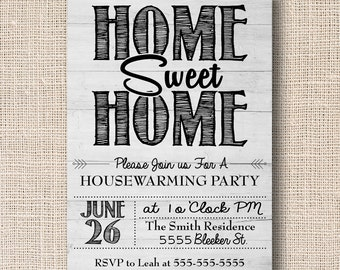 Housewarming Invite, Housewarming Party, Home Sweet Home Invite, We've Moved Invite, New Home Invite, Digital Invite, Printable Invite
