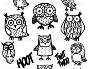 Owl Clipart, Clip Art, Owls, Birds, Hoot, Twit Twoo, Party Invites, Printables, Doodles,