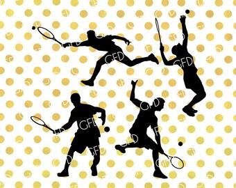 Tennis Players SVG, Tennis SVG, Grand Slam SVG, Tennis Cut File, Instant Download, Svg, Dxf, Jpg, Eps, Png