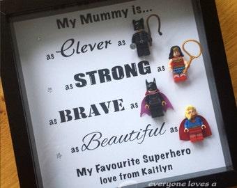 Superhero frame - mum, mummy, nanny etc