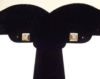 Bi-Color and Diamond Art Deco Stud Earrings