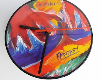 "The Levellers - Fantasy 7"" Limited Edition Picture Disc Record Clock"
