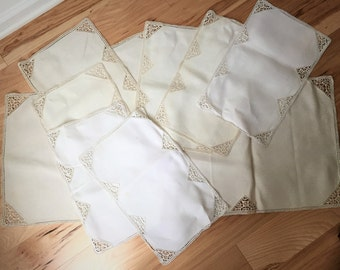 Vintage Table Runner and Eight Napkins